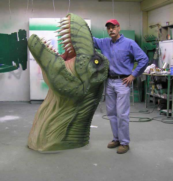 T-Rex Head Sculpture