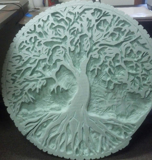 foam relief sculpture