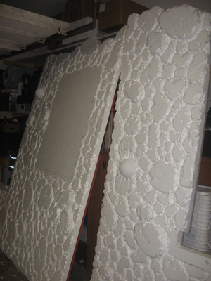 Carve your own stone walls out of foam