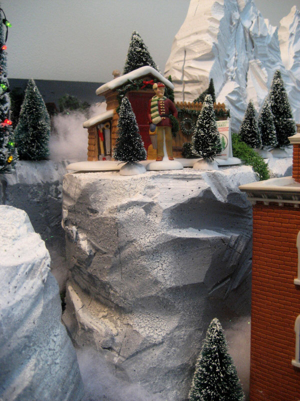 Department 56 Christmas Village Display Ideas Water Mountains Trains Hills More