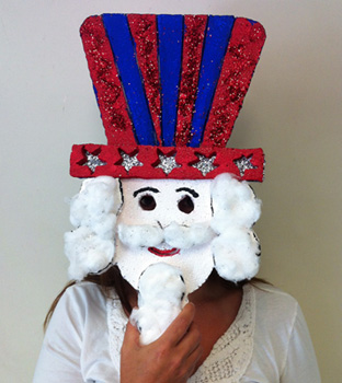 Make your own uncle sam mask