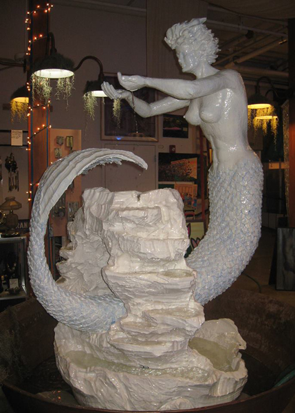 Mermaid Sculpture by John Herasymiuk