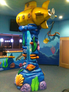 Aquarium themed dentist office