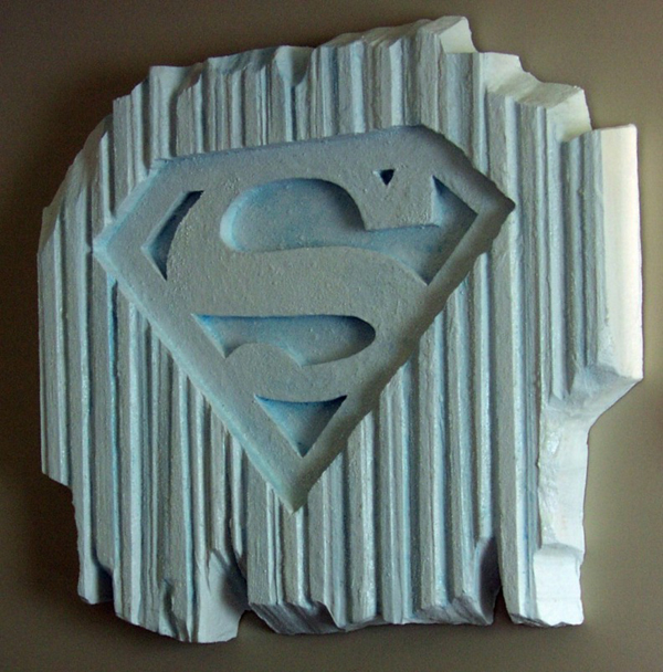 Superman Foam Sign