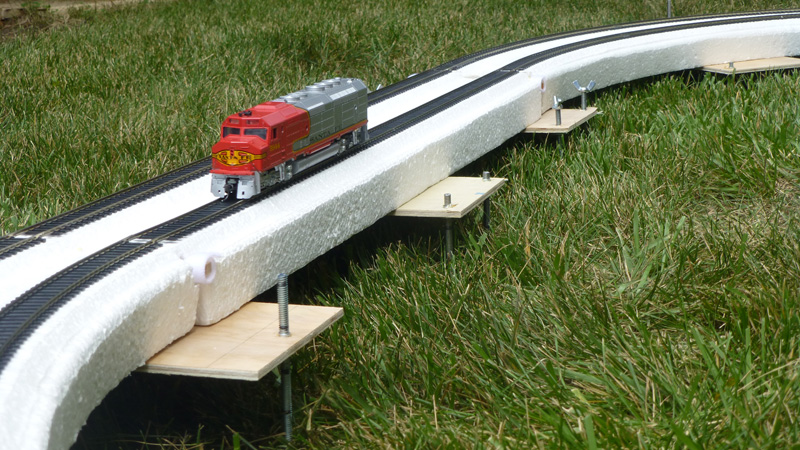 Model Railroad vertical helix track Layout with multiple layers