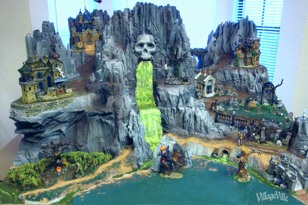 Skull Mountain Foam Halloween Village Display