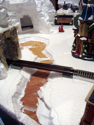 Model Railroad and Department 56 display
