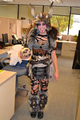 viking chick costume