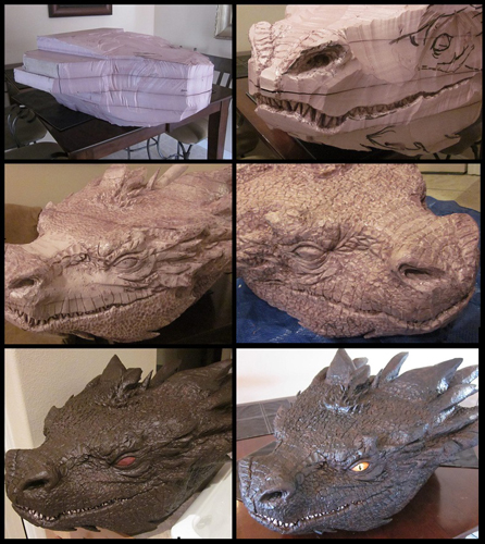 Foam dragon head for cosplay