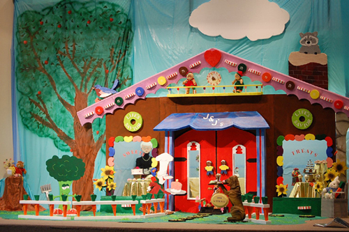 Candy Shop Stage Set Backdrop