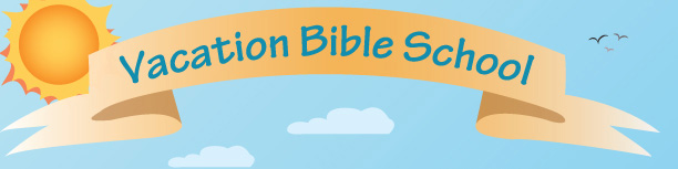 Vacation Bible School Banner, Clouds and Sun