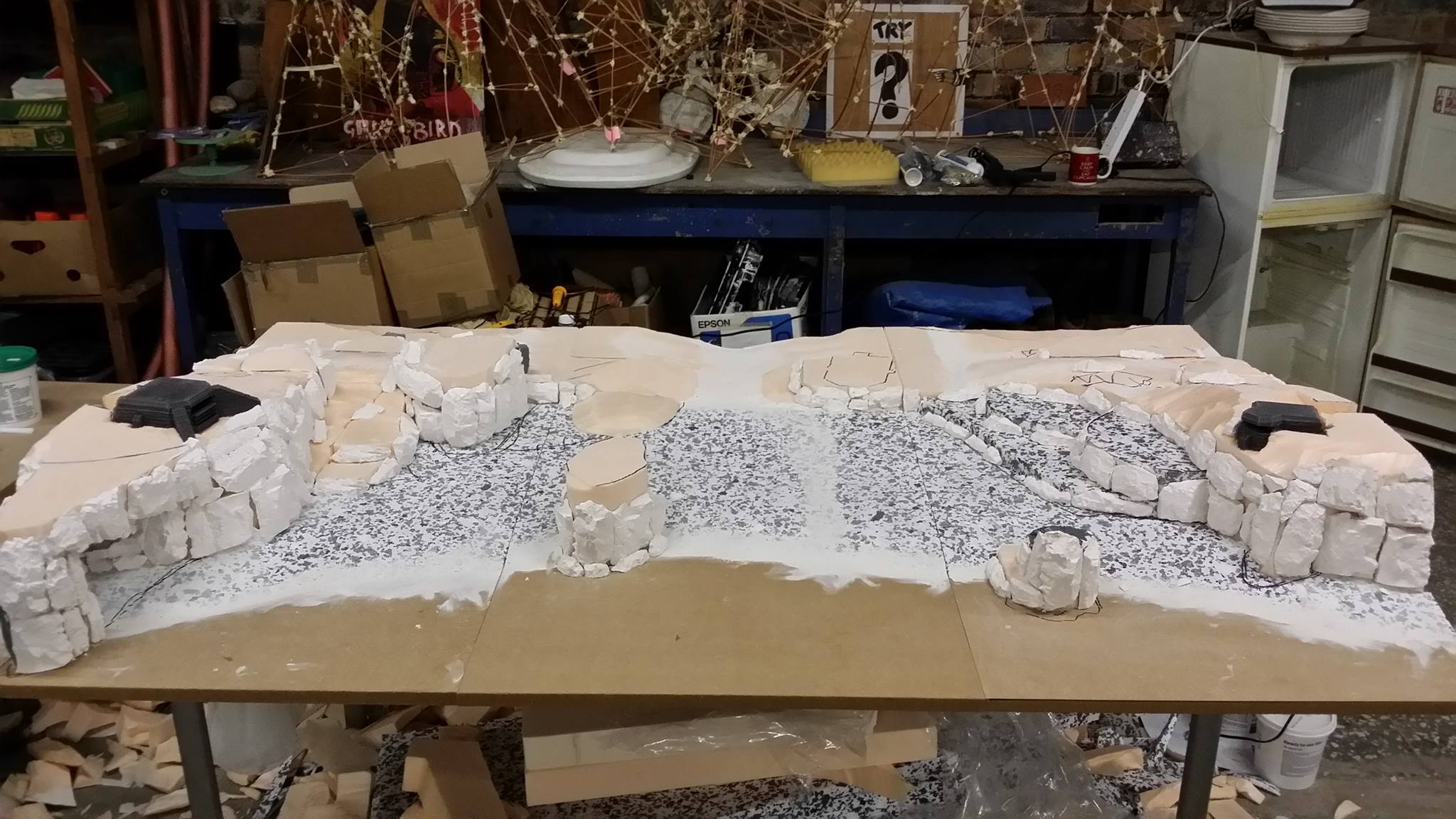 Crafting miniature terrain