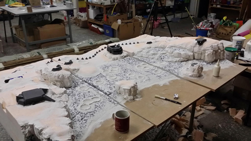 miniature terrain d-day