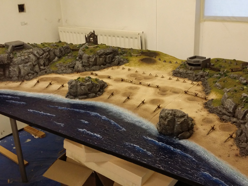 D-Day Miniature gaming terrain