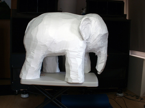 Elephant sculpture refinement