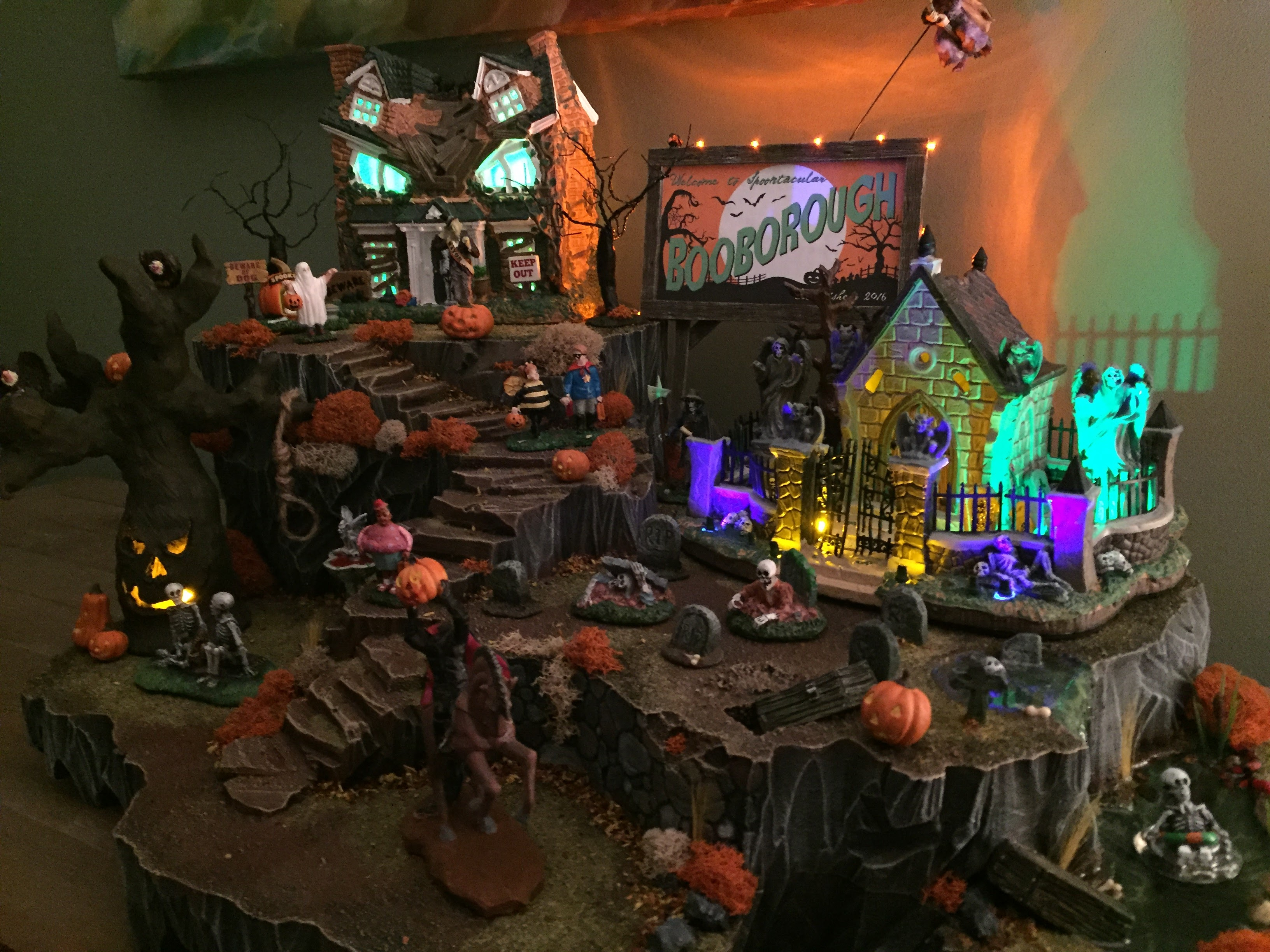 halloween spooky town village display - hot wire foam factory