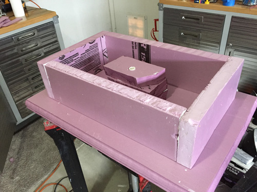 Constructing a foam mausoleum