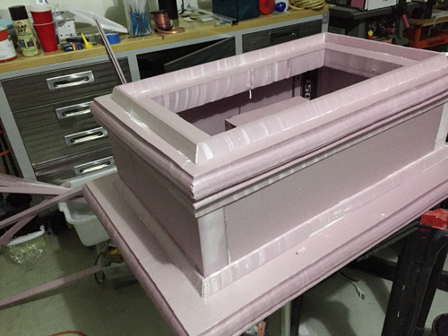 Foam tombstone base