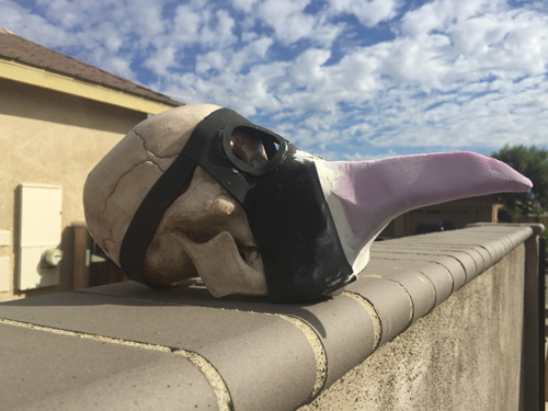Make your own foam plague doctor mask