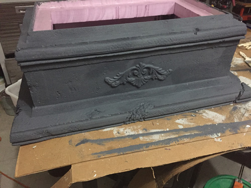 Base coat for foam tombstone