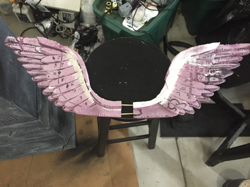 Foam wings for mausoleum