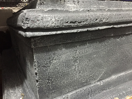 Foam tombstone detail