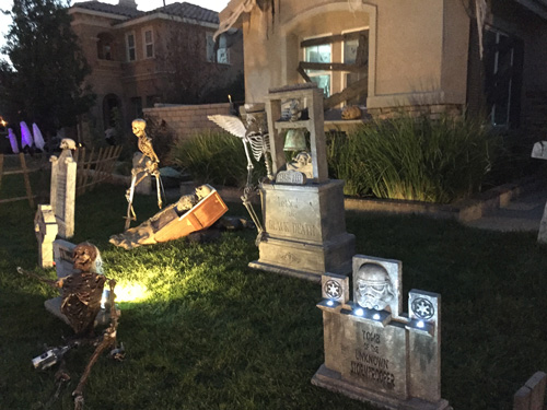 Halloween tombstone display