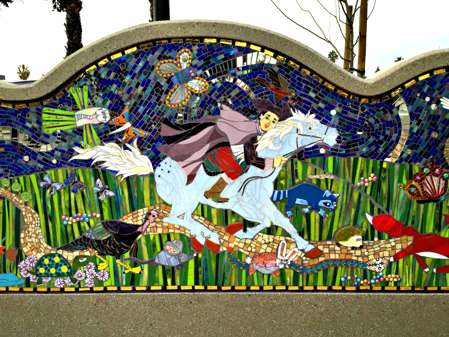 Paul Revere Mosaic Mural by Katherine England