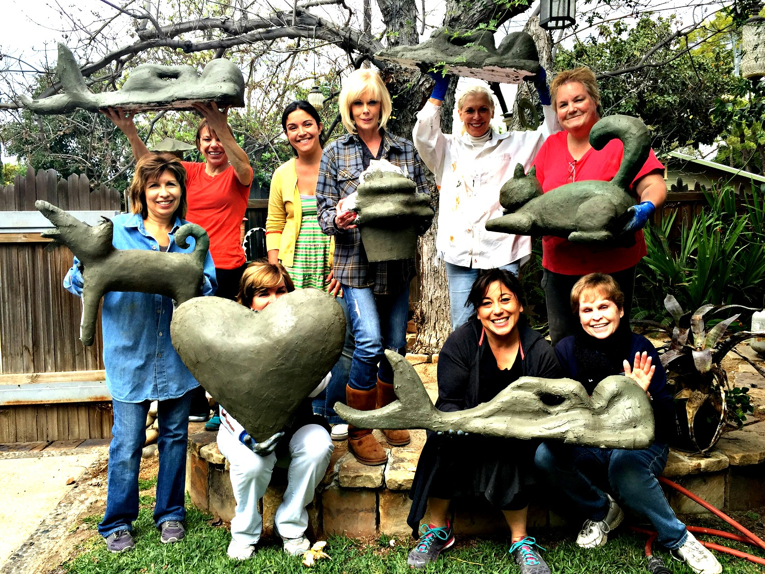 Garden Sculpture workshop by Katherine England